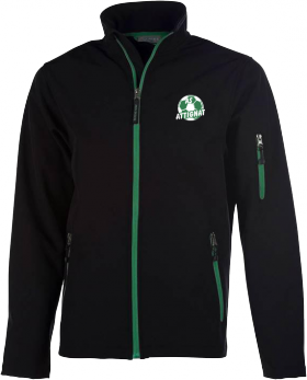 Veste soft shell noire/verte adulte